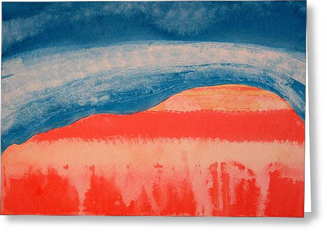 Peaches Corner Greeting Cards - Ghost Ranch original painting Greeting Card by Sol Luckman
