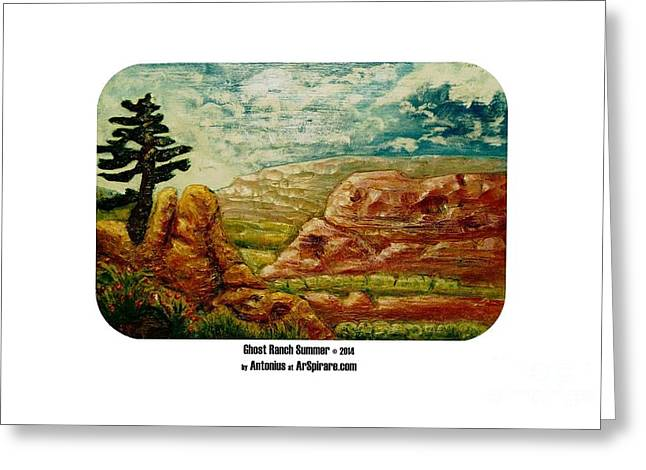 Photo Reliefs Greeting Cards - Ghost Ranch Summer Greeting Card by ArSpirare by Antonius