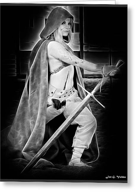 Ghostly Greeting Cards - Ghost Ranger Greeting Card by Jon Volden