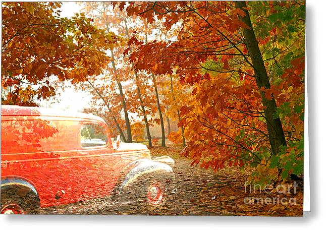 Fall Photos Mixed Media Greeting Cards - Ghost Rider  Greeting Card by Beverly Guilliams