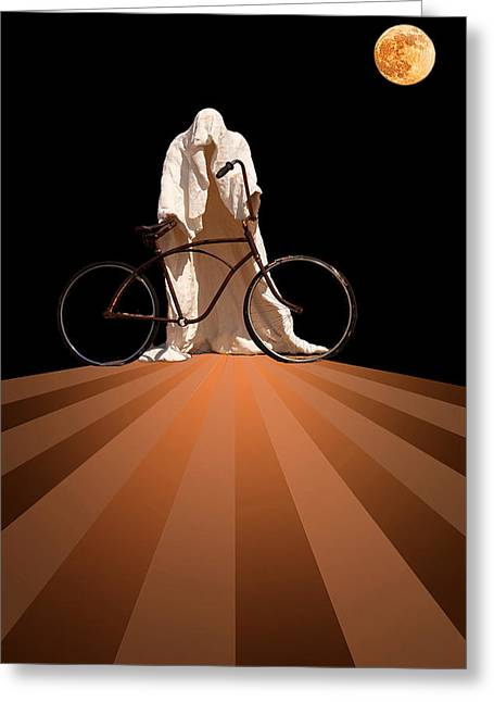 Creepy Digital Greeting Cards - Ghost Rider Greeting Card by Maria Coulson