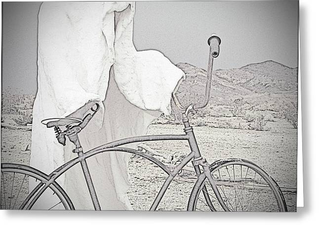 Mining Photos Greeting Cards - Ghost Rider Sketch Greeting Card by Marcia Socolik