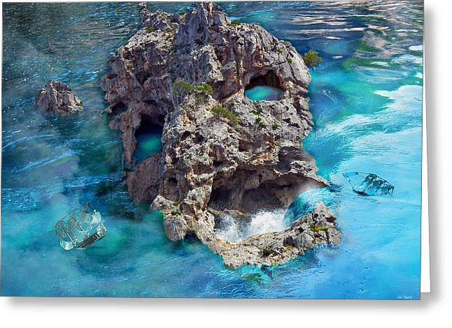Ghost Rock Greeting Card by Johnny Trippick