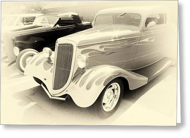 Ron Roberts Photography Photographs Greeting Cards - Ghost Rods Greeting Card by Ron Roberts