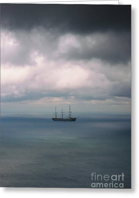 Pirate Ship Greeting Cards - Ghost Ship Greeting Card by Margie Hurwich