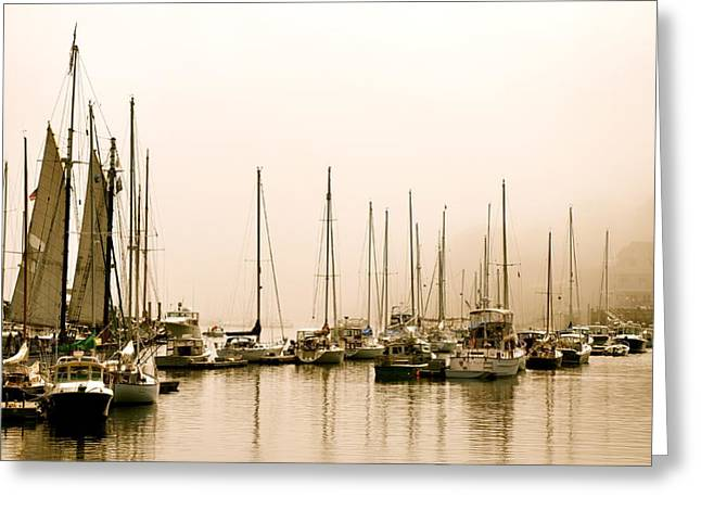 Ghost Ships Greeting Card by Corinne Rhode