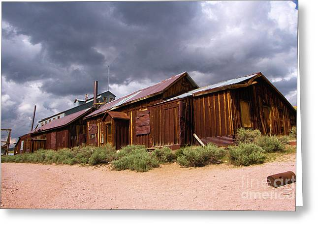 Wooden Building Greeting Cards - Ghost Storage Greeting Card by Adam Jewell
