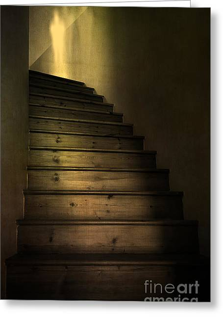 Shining Down Greeting Cards - Ghost Greeting Card by Svetlana Sewell
