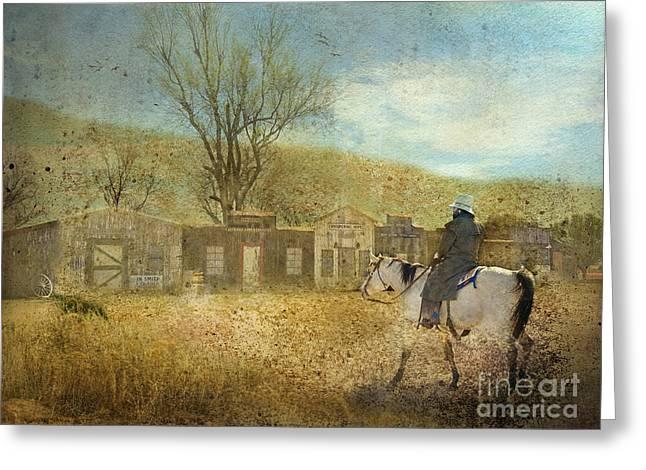 Old Town Digital Greeting Cards - Ghost Town #1 Greeting Card by Betty LaRue