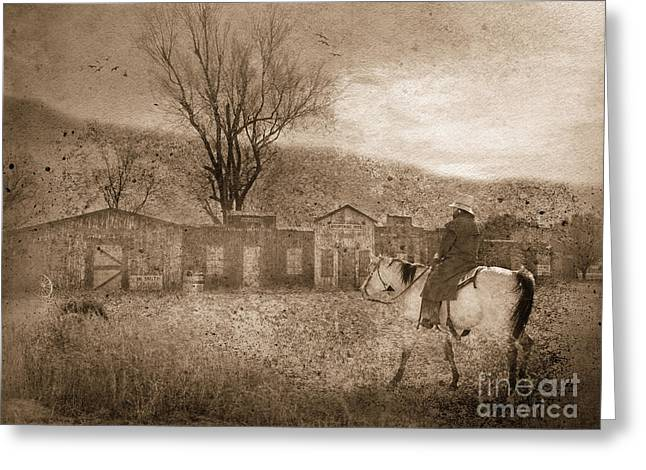 Ghost Town #2 Greeting Card by Betty LaRue