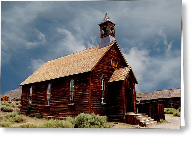 Mining Photos Greeting Cards - Ghost Town Church Greeting Card by Alan Socolik