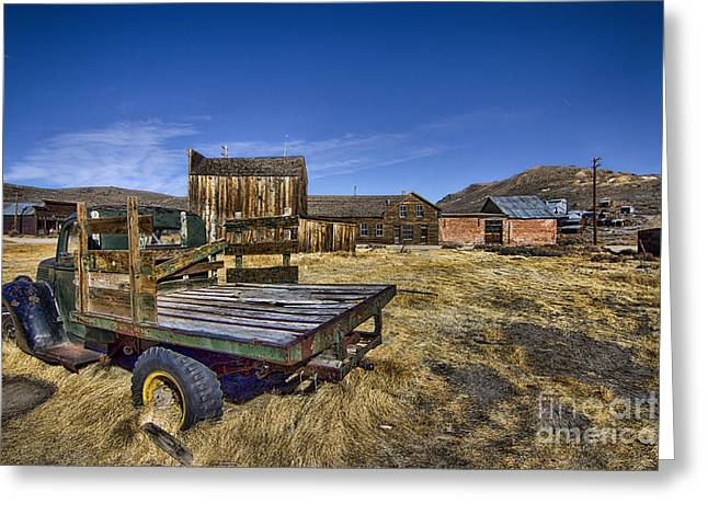 Abandoned School House. Digital Greeting Cards - Ghost Town  Greeting Card by Jason Abando