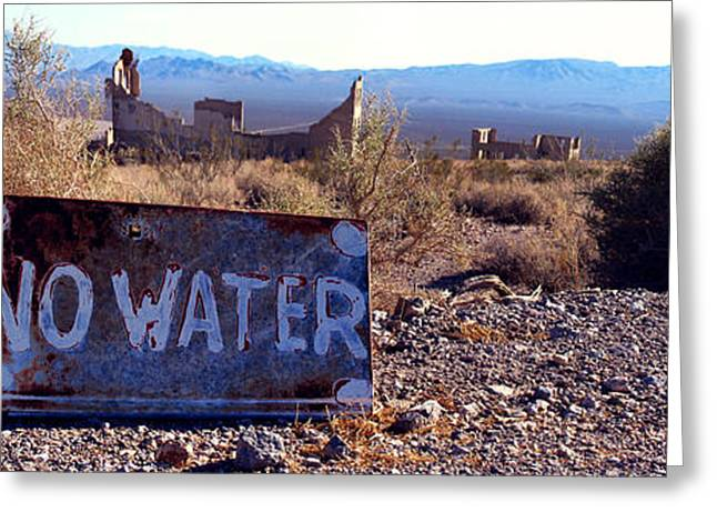Ghost Town - No Water Greeting Card by Maria Arango