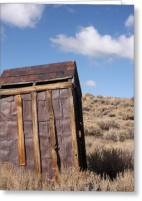 Vintage Potty Greeting Cards - Ghost Town Outhouse Greeting Card by Art Block Collections