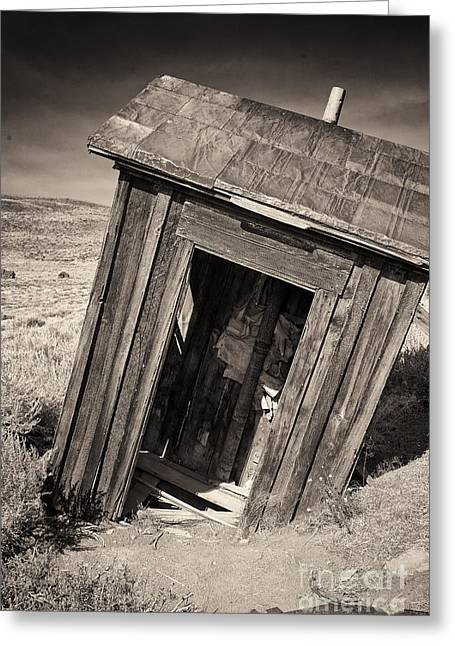 Mining Photos Greeting Cards - Ghost Town Outhouse Greeting Card by George Oze