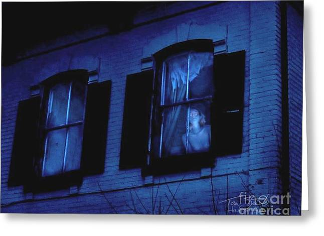 Floating Girl Greeting Cards - Ghost Town Resident Greeting Card by Tom Straub