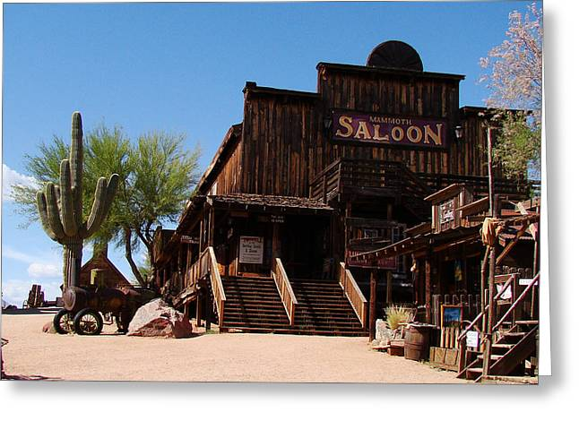 Saloons Greeting Cards - Ghost Town Saloon Greeting Card by Beverly Guilliams