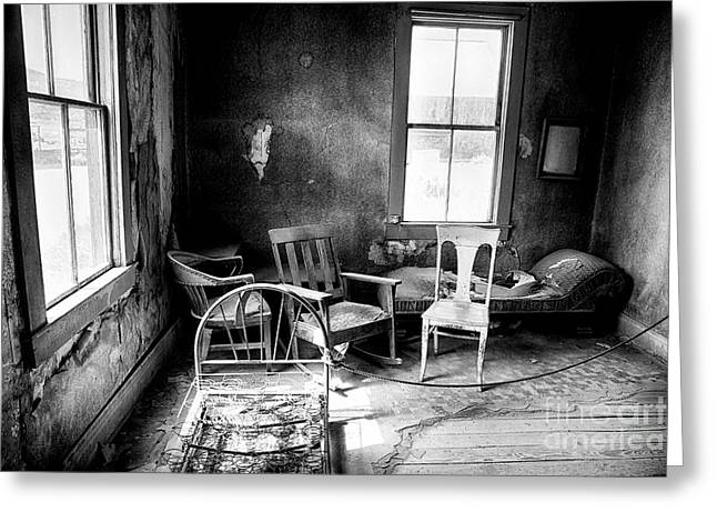 Windowlights Greeting Cards - Ghost Town Still Life I Greeting Card by George Oze
