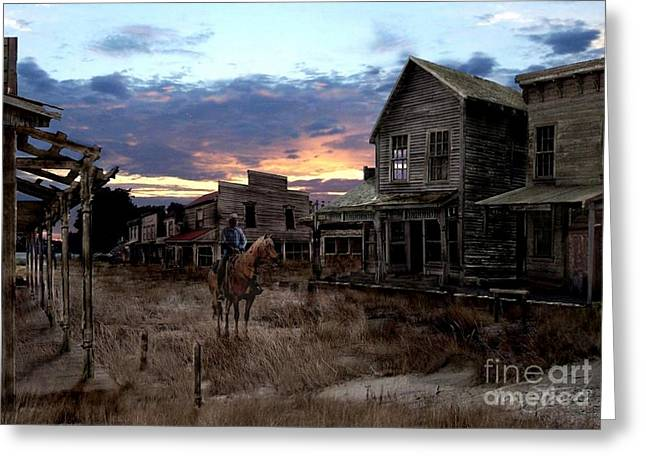 Old Town Digital Art Greeting Cards - Ghost Town  Greeting Card by Tom Straub