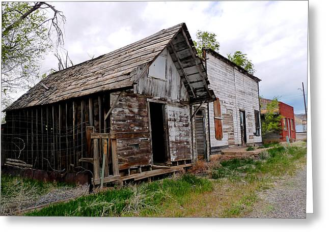 False Front Buildings Greeting Cards - Ghost Town Greeting Card by Tranquil Light  Photography