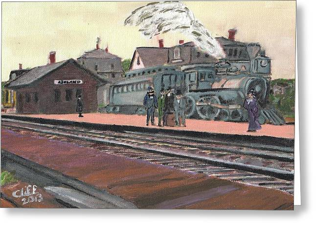 Ghost Train Greeting Card by Cliff Wilson