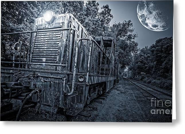 Ghost Train Greeting Card by Edward Fielding