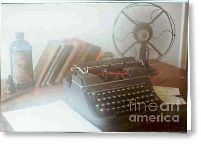 Ghost Writer Greeting Card by Michael Hoard