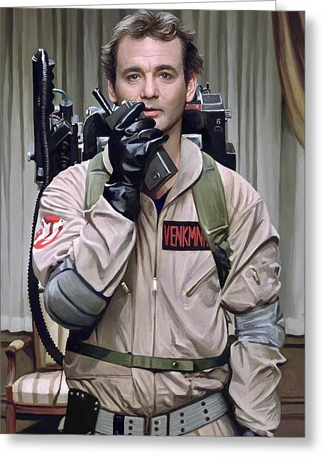 Bill Greeting Cards - Ghostbusters - Bill Murray Artwork 2 Greeting Card by Sheraz A