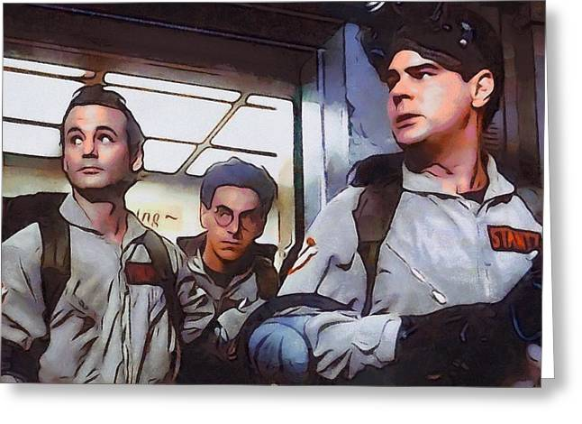 Classic Hollywood Mixed Media Greeting Cards - Ghostbusters Greeting Card by Dan Sproul