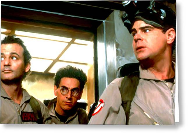 80s Greeting Cards - Ghostbusters Greeting Card by Paul Tagliamonte