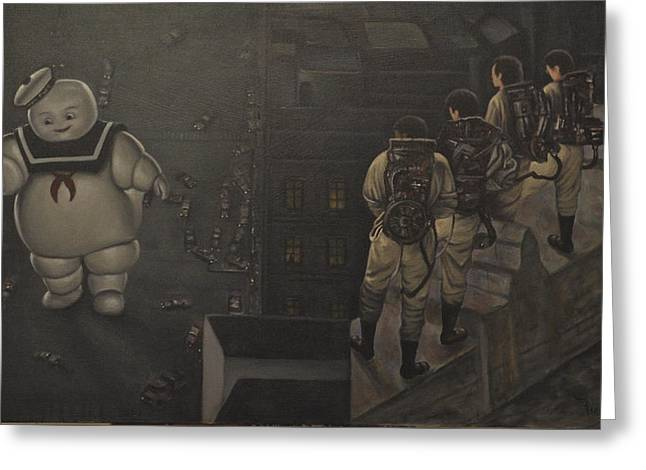 Proton Greeting Cards - Ghostbusters Greeting Card by Riard
