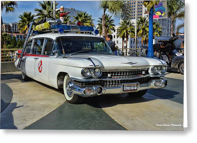 1959 Movies Greeting Cards - Ghostbusters Greeting Card by Tommy Anderson