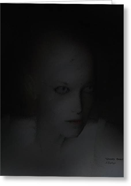Ghostly Digital Greeting Cards - Ghostly Beauty Greeting Card by Jean Gugliuzza