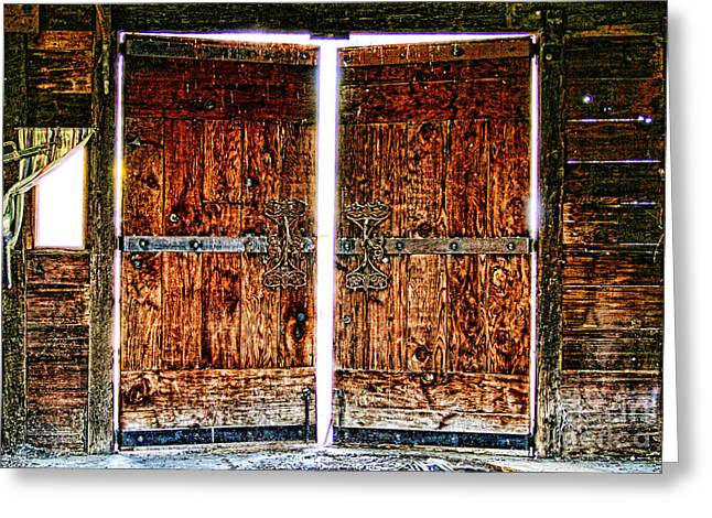Ghostly Barn Greeting Cards - Ghostly Doors By Diana Sainz Greeting Card by Diana Sainz