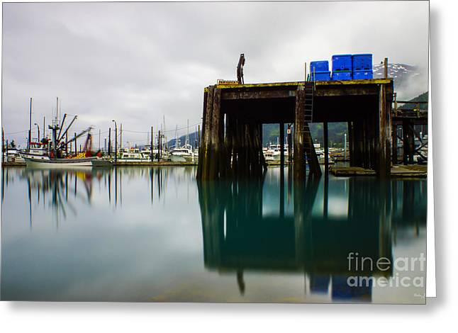 Ocean Images Greeting Cards - Ghostly Fishermen at Whittier Alaska Greeting Card by Jennifer White