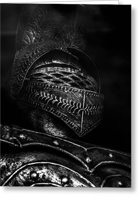 Ghostly Knight Greeting Card by Donna Lee