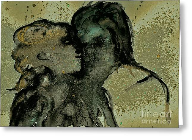 Samhaim Greeting Cards - Ghostly Lovers Greeting Card by First Star Art