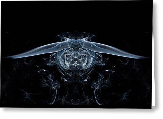Ghostly Owl Greeting Card by Steve Purnell