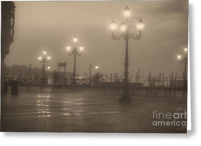 Negative Effect Greeting Cards - Ghostly Photographers in Venice Greeting Card by Prints of Italy