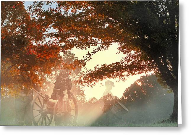 Tennessee River Digital Greeting Cards - Ghosts at Fort Donelson Greeting Card by Mary Almond