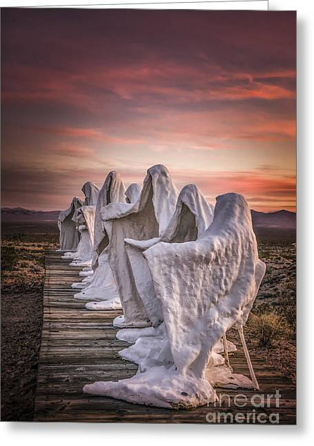 Last Supper Greeting Cards - Ghosts at Sunset Greeting Card by Janis Knight