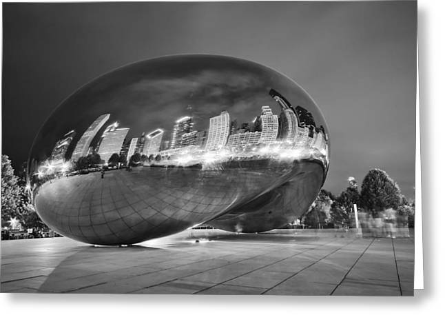 Ghosts in The Bean Greeting Card by Adam Romanowicz