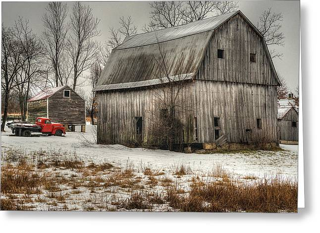 Outbuildings Greeting Cards - Ghosts of Farmers Give Their Blessing Greeting Card by William Fields