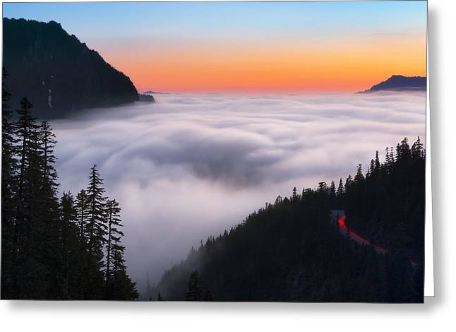 Inspiration Point Greeting Cards - Ghosts of Nisqually Greeting Card by Ryan Manuel