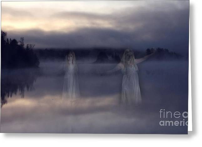Ghostly Greeting Cards - Ghosts of Shallow Lake - Spirits of Algonquin Park Ontario Canada  Greeting Card by Inspired Nature Photography By Shelley Myke