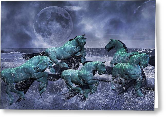 Knighted Digital Greeting Cards - Ghosts of the Knight Greeting Card by Betsy C  Knapp