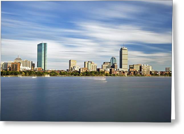 Charles River Greeting Cards - Ghosts on the Charles Greeting Card by Eric Gendron
