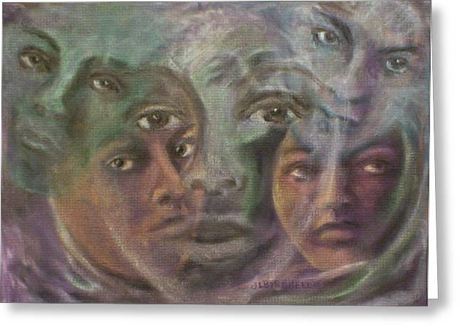 Mind Split Greeting Cards - Ghosts Within Greeting Card by Debra Lynn Birchell