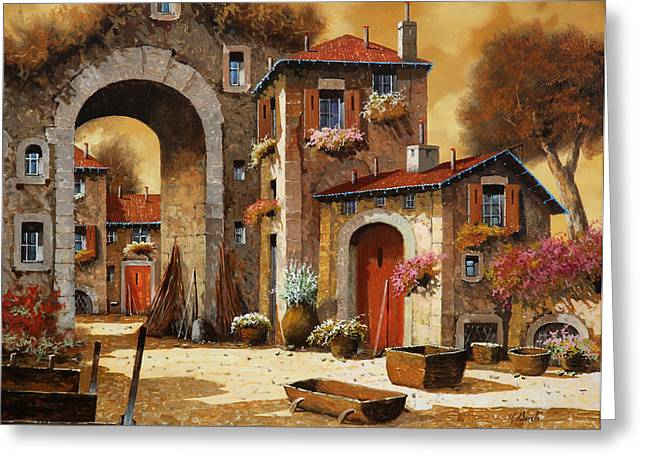 Cart Greeting Cards - Giallo Greeting Card by Guido Borelli