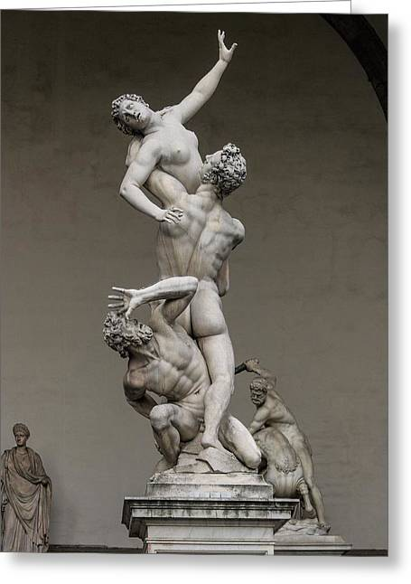 Giambologna's Rape Of The Sabine Women Greeting Card by Brian Gadsby